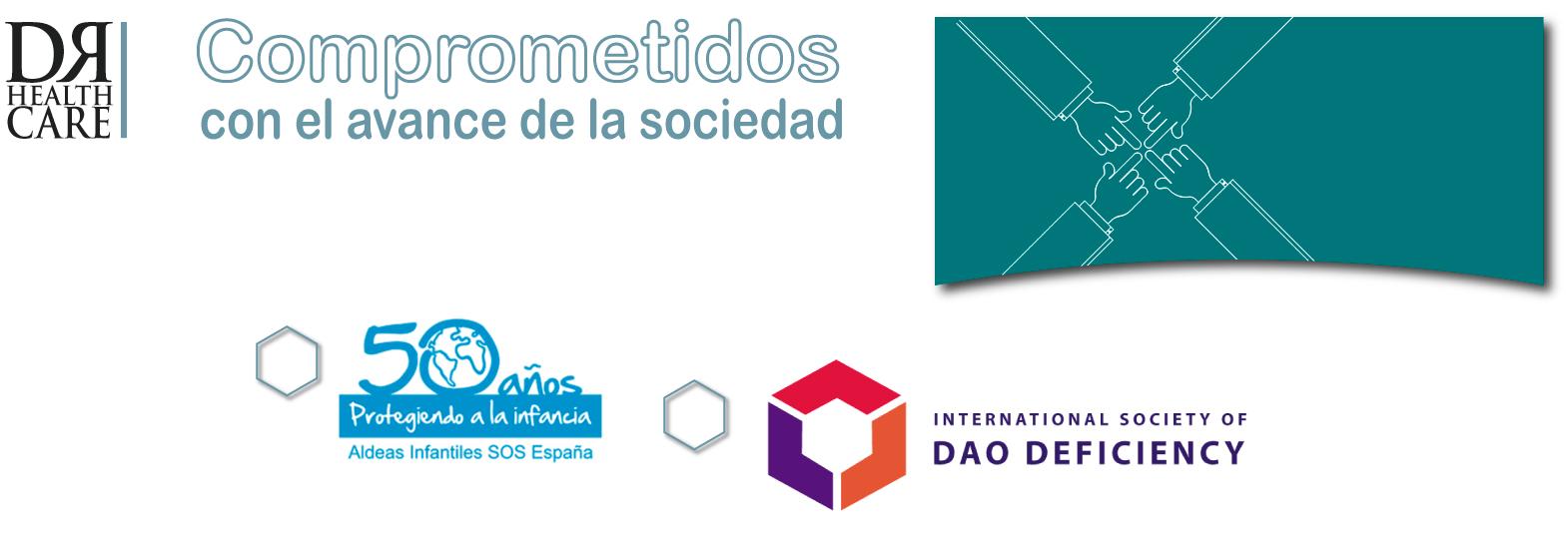 compromiso social de DR Healthcare con el avance de la sociedad, déficit de DAO, histamina, diamino oxidasa