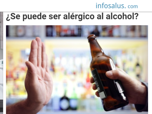 ¿Se puede ser alérgico al alcohol? – Infosalus.com