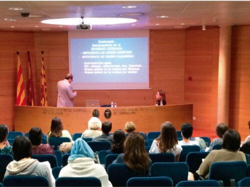 """Conferencia """"Migraña y otros síntomas funcionales del Déficit de DAO"""" en el Col•legi Oficial de Farmacèutics de Tarragona"""