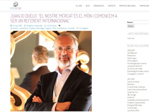 """Our market is the world and we began to be an international reference"" – interview in eduscopi to Juanjo Duelo, CEO of DR Healthcare"