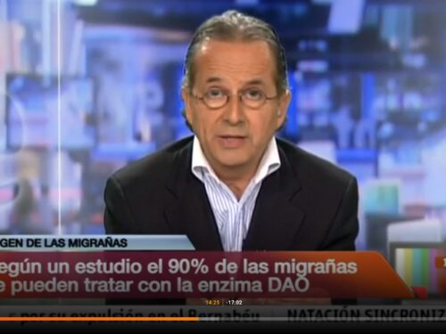 According to a study the 90% of migraines can be treated with the enzyme DAO – Interview of RTVE to Juanjo Duelo, CEO of DR Healthcare